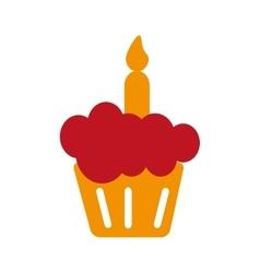 muffin sweet dessert vector image