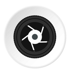 objective icon circle vector image
