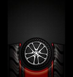 Racing car wheel vector