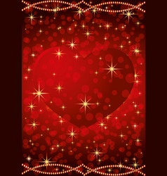Red heart for valentines day vector