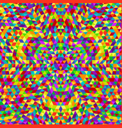 Round abstract geometrical triangle kaleidoscope vector