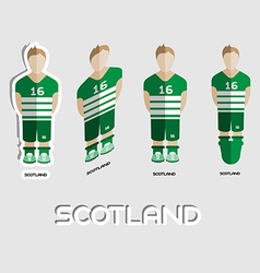 Scotland Soccer Team Sportswear Template vector