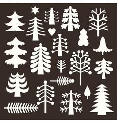 Set christmas trees vector
