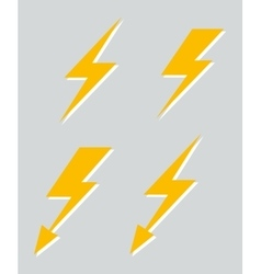 Set of four lightnings vector image