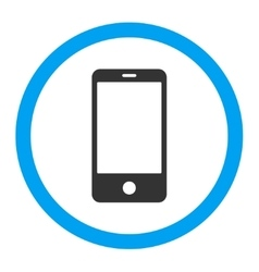 Smartphone flat blue and gray colors rounded vector image