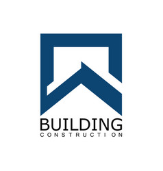 square building construction logo vector image