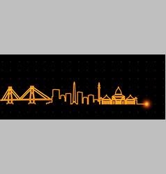 Surabaya light streak skyline vector