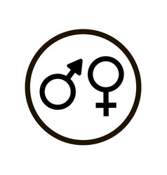 toilet icon with male and female symbol isolated vector image