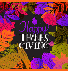 typography happy thanksgiving vector image