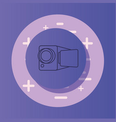 Videocamera device design vector