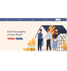 Web advertising template real estate agency vector