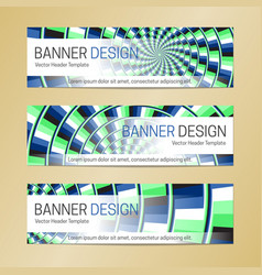 Web banner design on optical illusion background vector