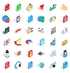 Web key icons set isometric style vector