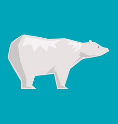 white polar bear cartoon happy animal vector image
