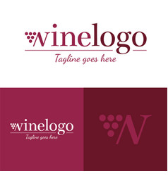 wine logo icon and logo vector image