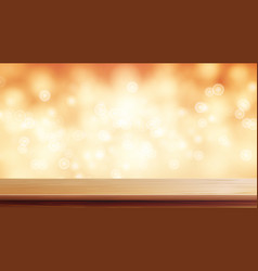 Wood table top brown bokeh abstract vector