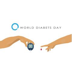 World diabetes day vector