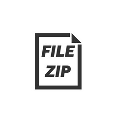 zip file icon flat vector image