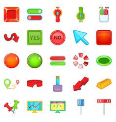 arrow icons set cartoon style vector image