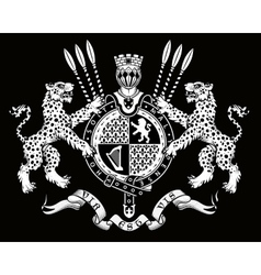 Coat of arms Knight vector image