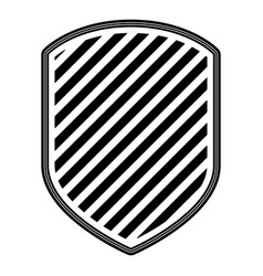 emblem with striped in monochrome silhouette vector image vector image
