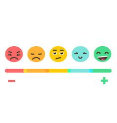 emoji feedback emotions scale vector image