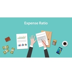 expense ratio with paperworks vector image vector image