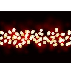 Holiday lights on black background vector image vector image