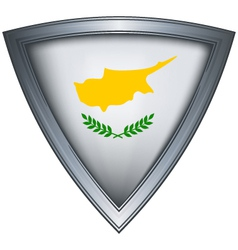 steel shield with flag cyprus vector image