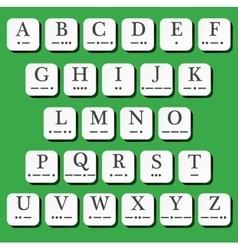 Alphabet with morse code vector image