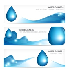 Set of water banners vector