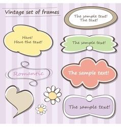 Vintage set of frames vector image