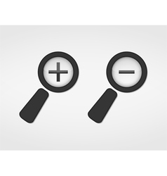 Zoom Icons vector image vector image