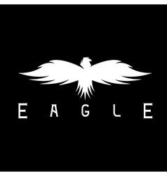 Abstract design template of bird eagle vector