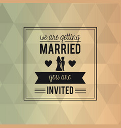 Colorful abstract background card of wedding vector