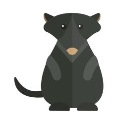 Cute Australia groundhog funny cartoon character vector image