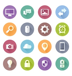 Flat icons tech vector image