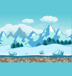 seamless background with winter landscape vector image