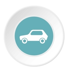 Sign car icon flat style vector image