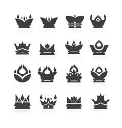 crown set for halloween vector image
