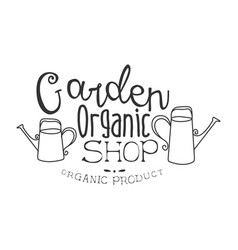 garden organic natural product shop black and vector image vector image