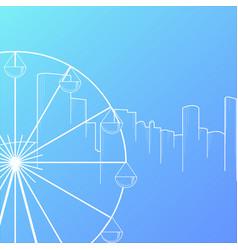 modern city skyline background flat style vector image
