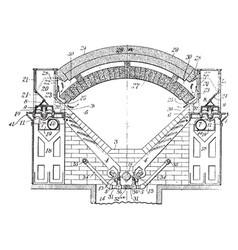 smelting furnace vintage vector image vector image