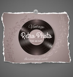 Vintage vinyl music ilustration vector image vector image
