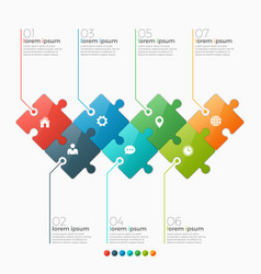 7 options infographic template vector