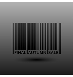 Abstract Barcode Final Autumn Fall Sale vector