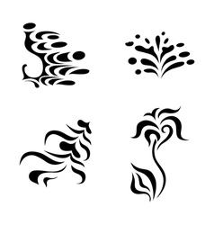 abstract design elements - tattoo vector image