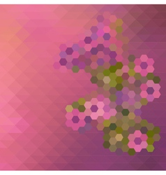 Abstract Mosaic Floral Pattern Background vector image