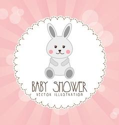Babby shower design vector