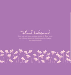 Background from silhouettes of flowers vector
